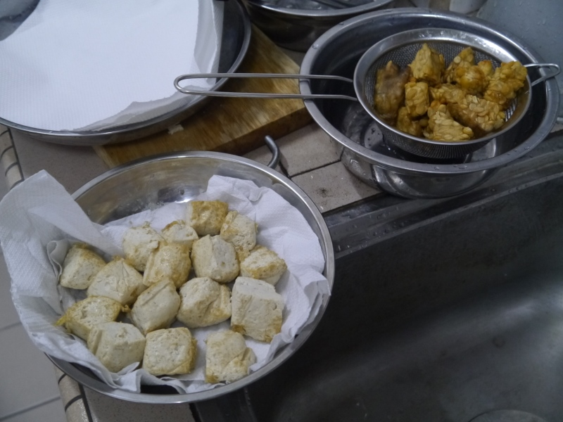 Fried Tempeh and tauhu