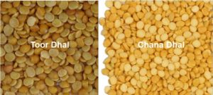 Chana and Toor Dhal