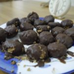 Peanut Cookies coated with chocolate